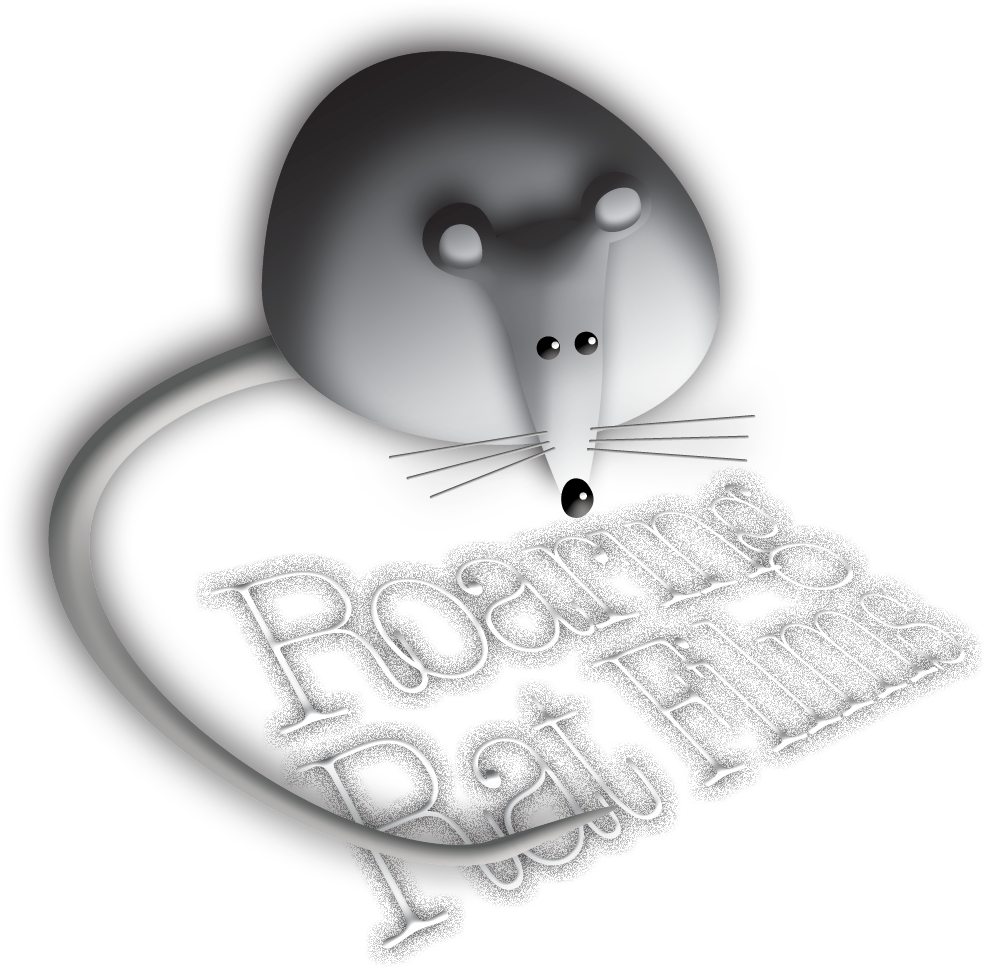 Roaring Rat Logo 3D on clear